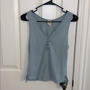 Free People tank top teal blue size XS like new